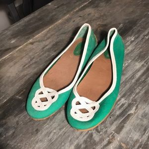 Green Sperry Flats